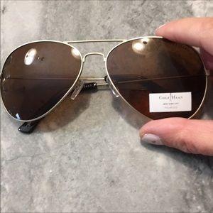 Cole Haan Aviators w/ silver frames
